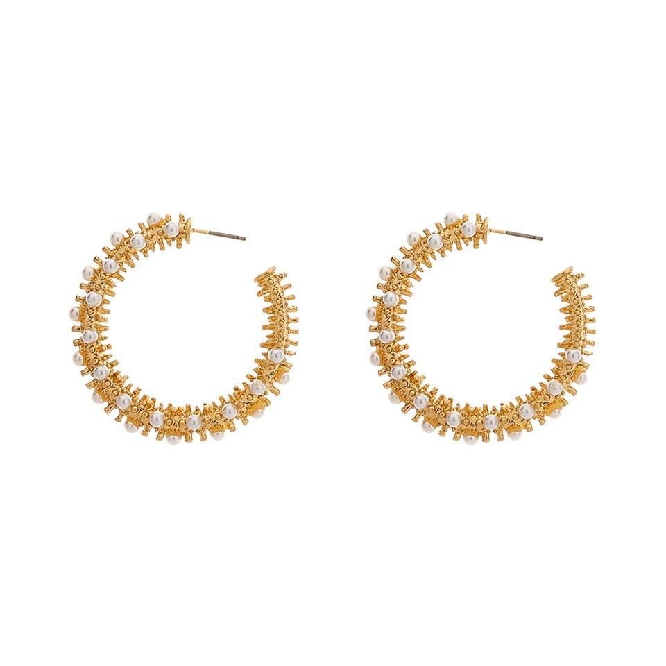 Diane Gold Pearl Hoops