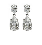 Classic Clear Drop Earrings - Pierre Winter Fine Jewels
