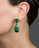 Classic Long Emerald Drop Earrings