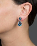 Classic Mini Aqua Drop Earrings - Pierre Winter Fine Jewels