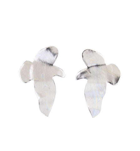 Silver Foliage Earrings