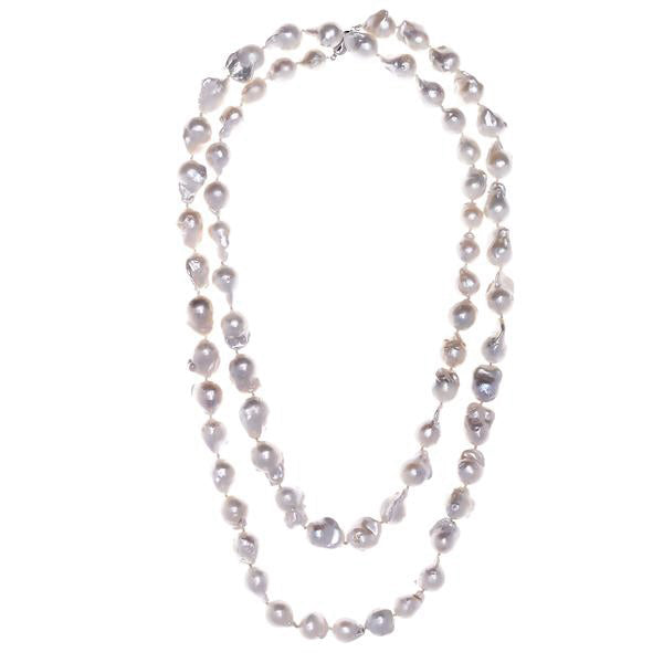 Baroque White Pearl Necklace - Pierre Winter Fine Jewels