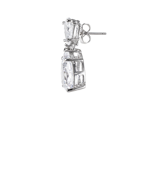 Classic Mini Rose Drop Earrings - Pierre Winter Fine Jewels