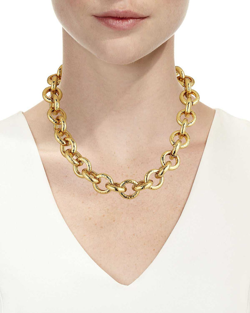 Circular Chain Link Necklace