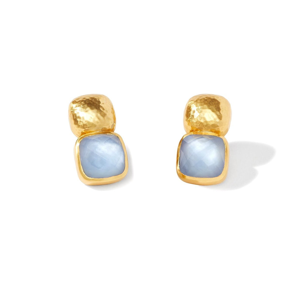 Catalina Light Blue Clip-On Earrings