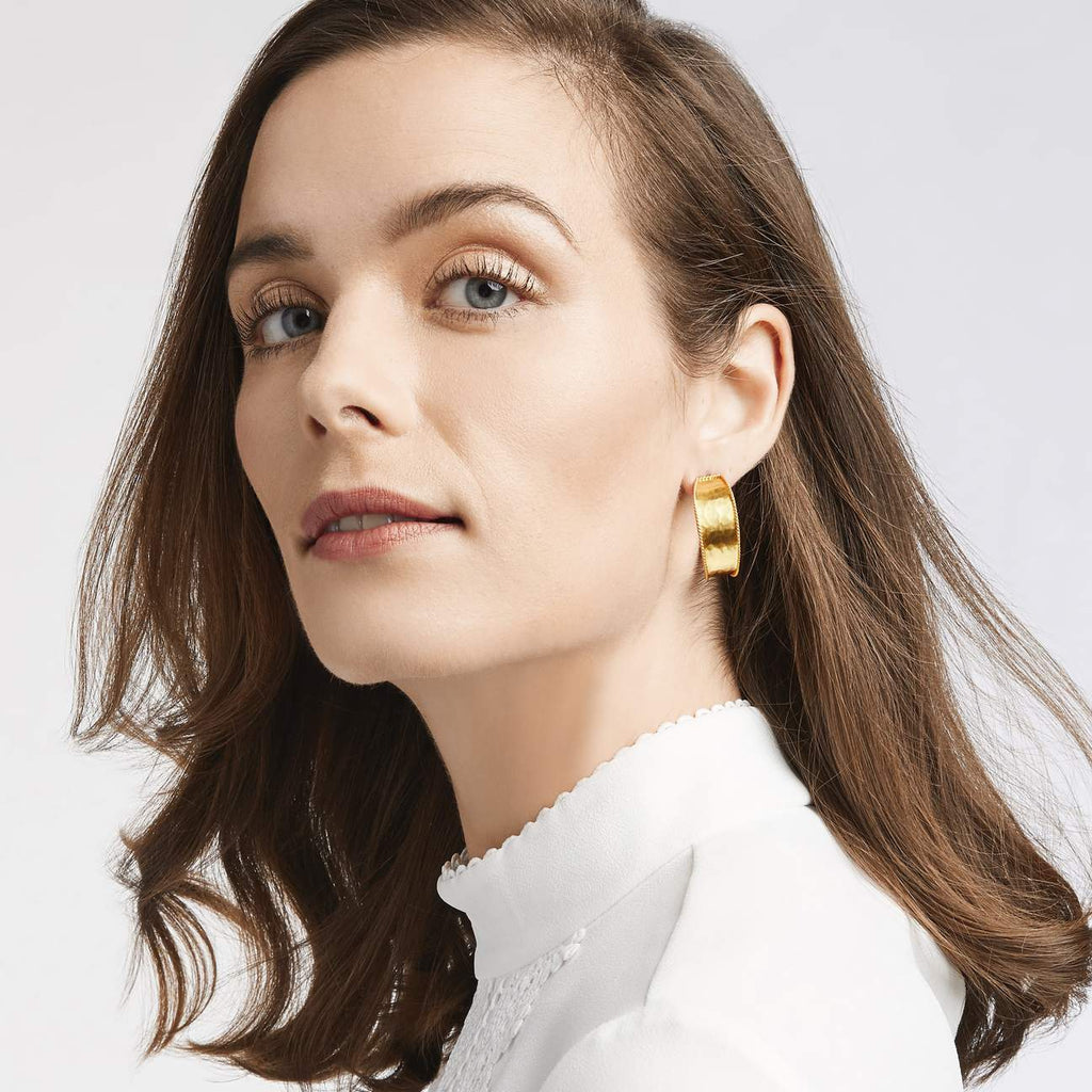 Savoy Gold Medium Hoop Earrings