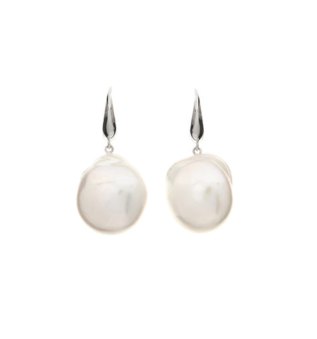Statement Pearl & Link Earrings