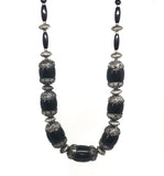 Black Beaded Necklace | SALE