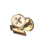 Gold Button Cufflinks - Pierre Winter Fine Jewels