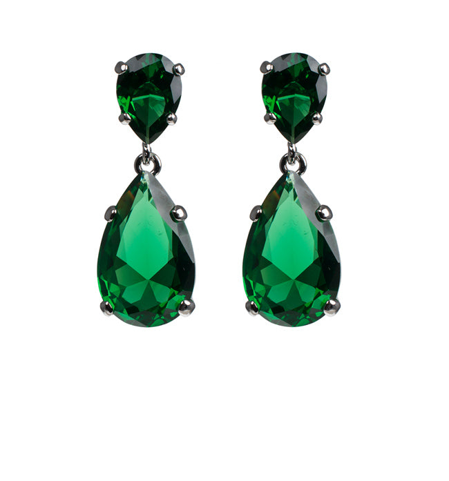 Classic Emerald Drop Earrings - Pierre Winter Fine Jewels