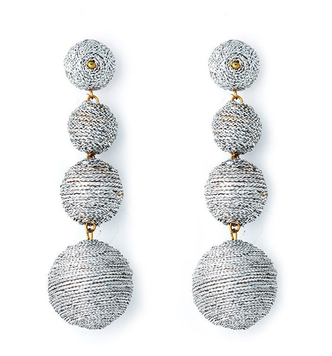 Metallic Silver Carnival Earrings