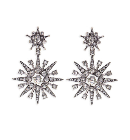 Crystal Fringe Stud Earrings