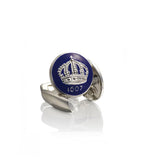 Royal Blue Crown Cufflinks