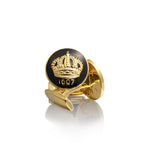 Baroque Black Crown Cufflinks - Pierre Winter Fine Jewels