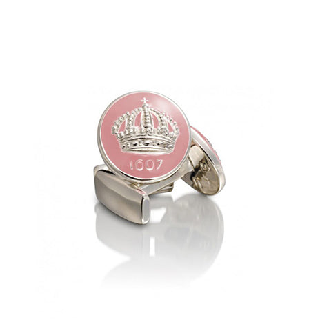 Pink Crown Cufflinks