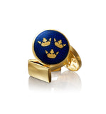Three Crowns Gold Cufflinks