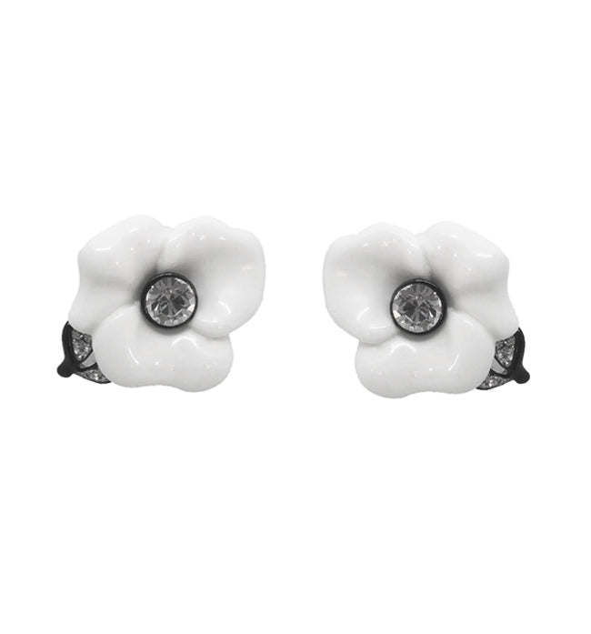 White Gardenia Earrings