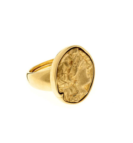 Crinkled Metal Gold Ring