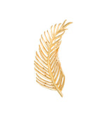 Gold Palm Leaf Brooch