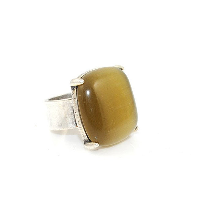 Cat's Eye Honey Ring | SALE - Pierre Winter Fine Jewels