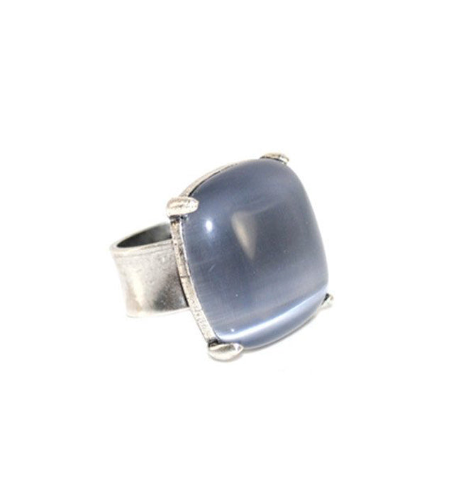 Cat's Eye Smoky Blue Ring | SALE - Pierre Winter Fine Jewels