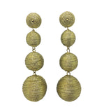 Metallic Gold Carnival Earrings