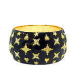 Black Enamel Crystal Star Cuff - Pierre Winter Fine Jewels
