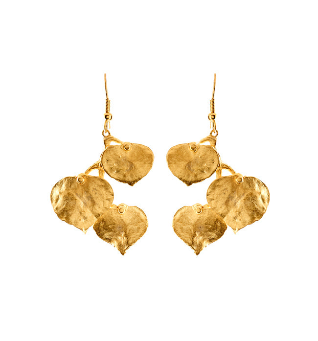 Small Gold Branch Earrings