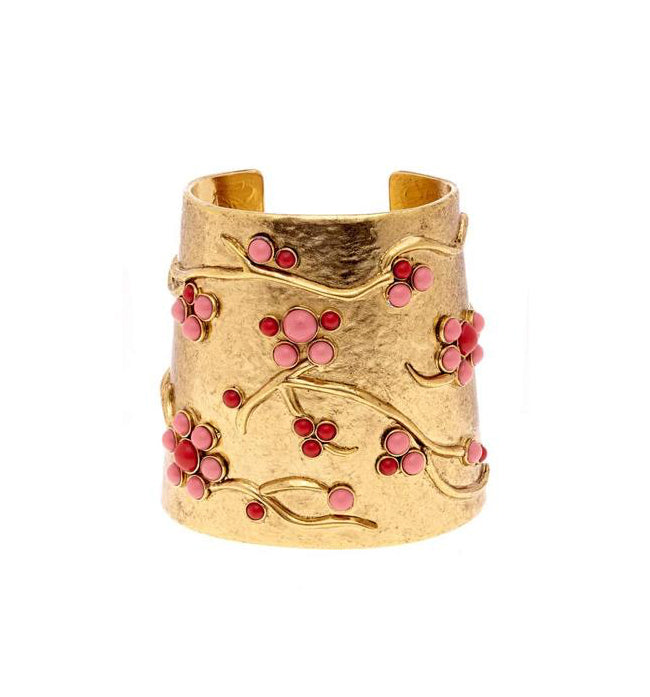 Coral Branch Gold Cuff