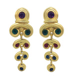 Vintage Byzantine Earrings C 1985