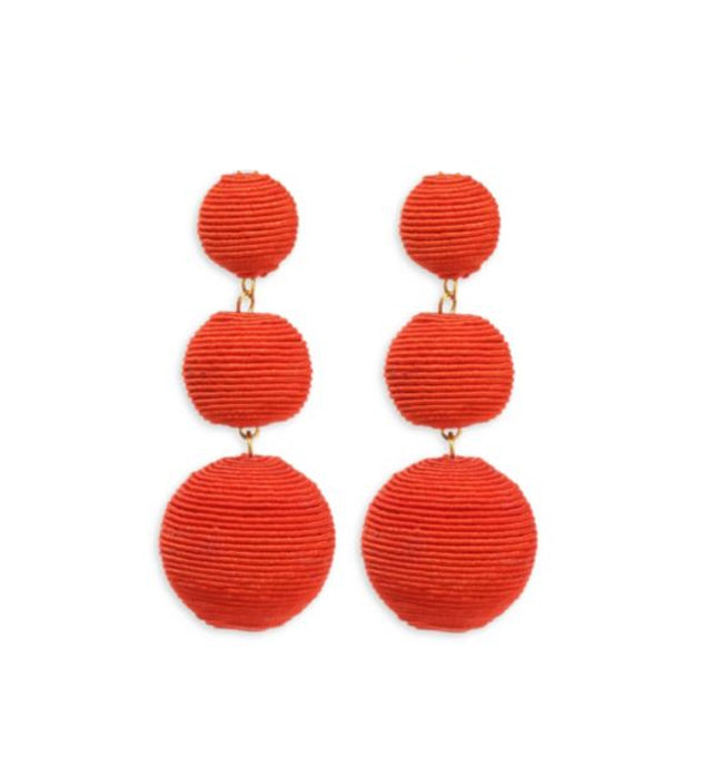 Tangerine Carnival Earrings