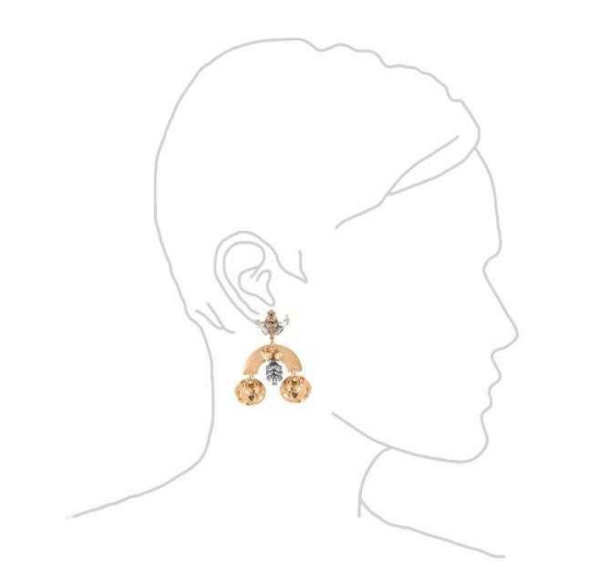 Gold Arched Crystal Earrings