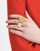 Coin and Pearl Ring