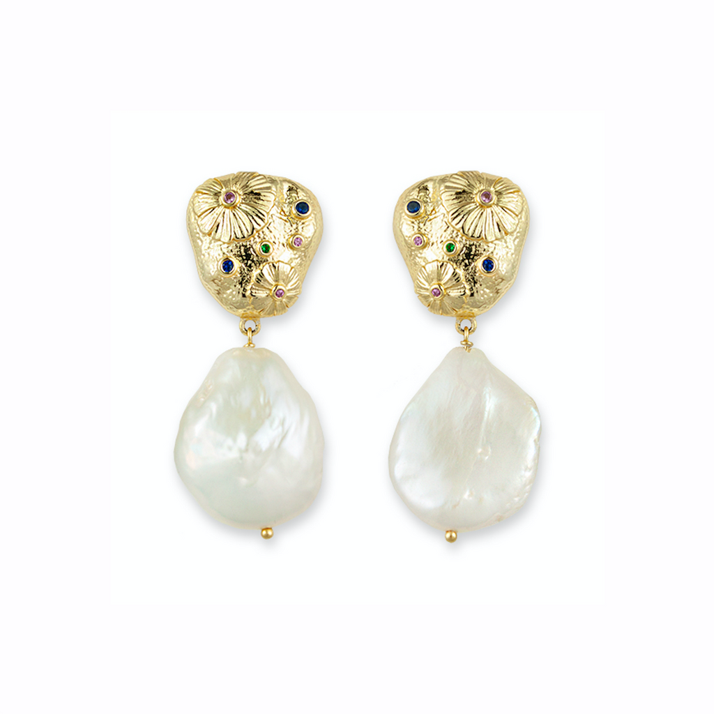 Garden Baroque Pearl Earrings