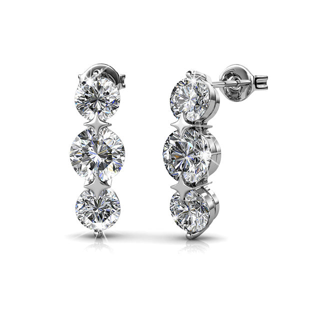 Elise Crystal Earrings - Pierre Winter Fine Jewels