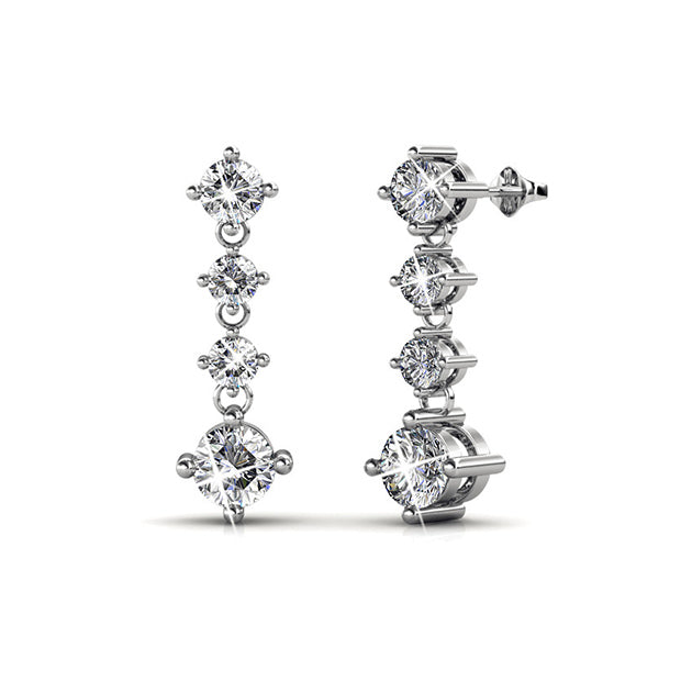 Amanda Crystal Earrings - Pierre Winter Fine Jewels