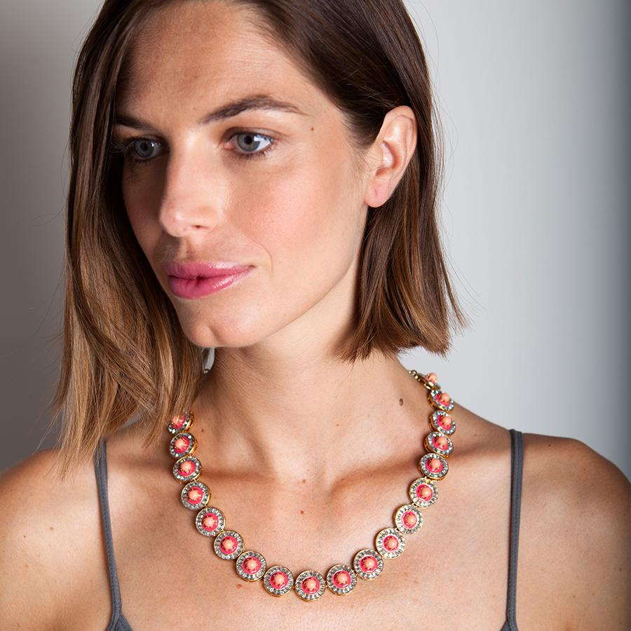 Coral Sundial Necklace - Pierre Winter Fine Jewels