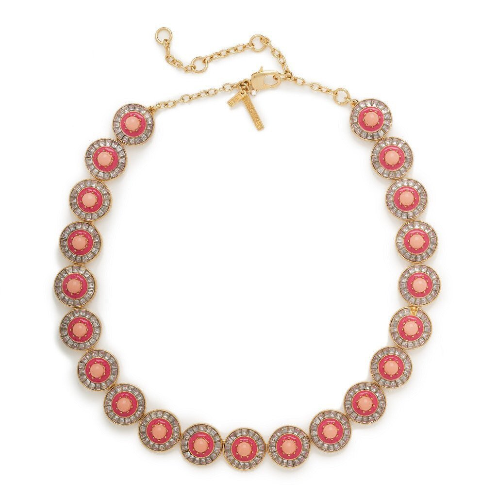 Coral Sundial Necklace