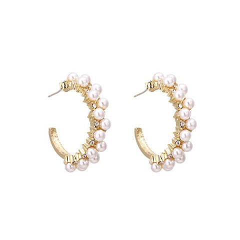 Champagne Flower Drop Earrings