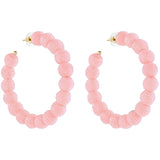 Soft Pink Carnival Hoop Earrings
