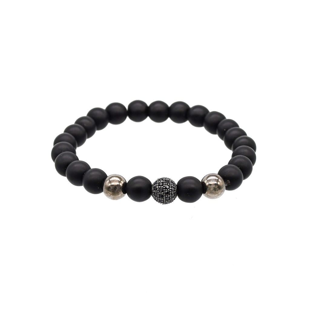 Gunmetal Stretch Bracelet
