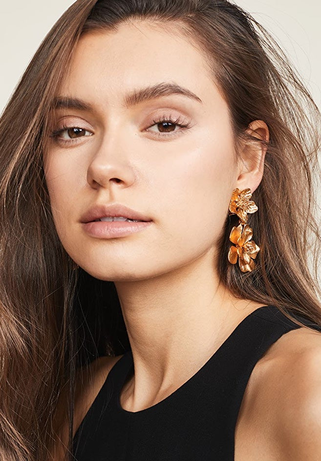 Classic Flower Drop Earrings