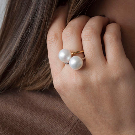 Gold Freshwater Pearl Ring - Pierre Winter Fine Jewels