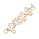 Gold Crystal and Pearl Bracelet - Pierre Winter Fine Jewels