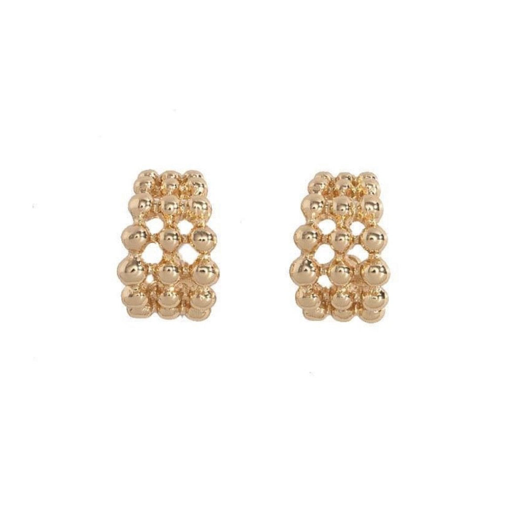 Lucille Gold Triple Hoops | SALE