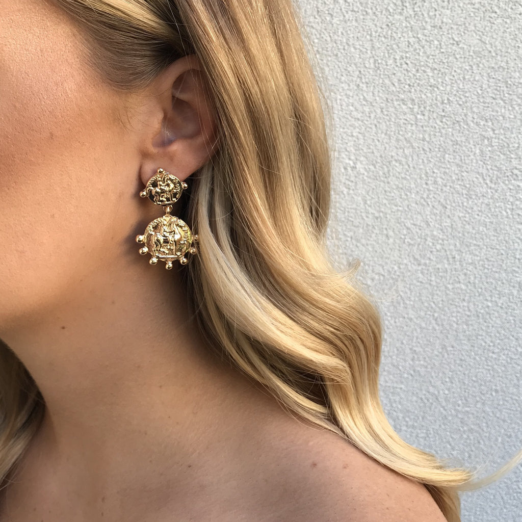Roma Coin Earrings | SALE