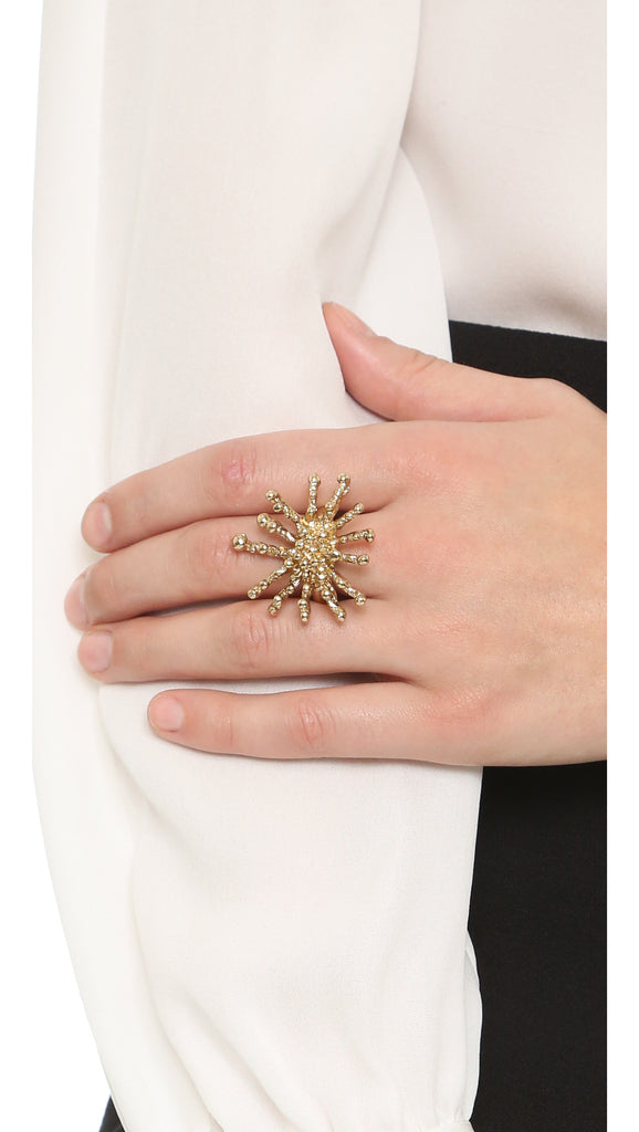 Gold Sunburst Ring