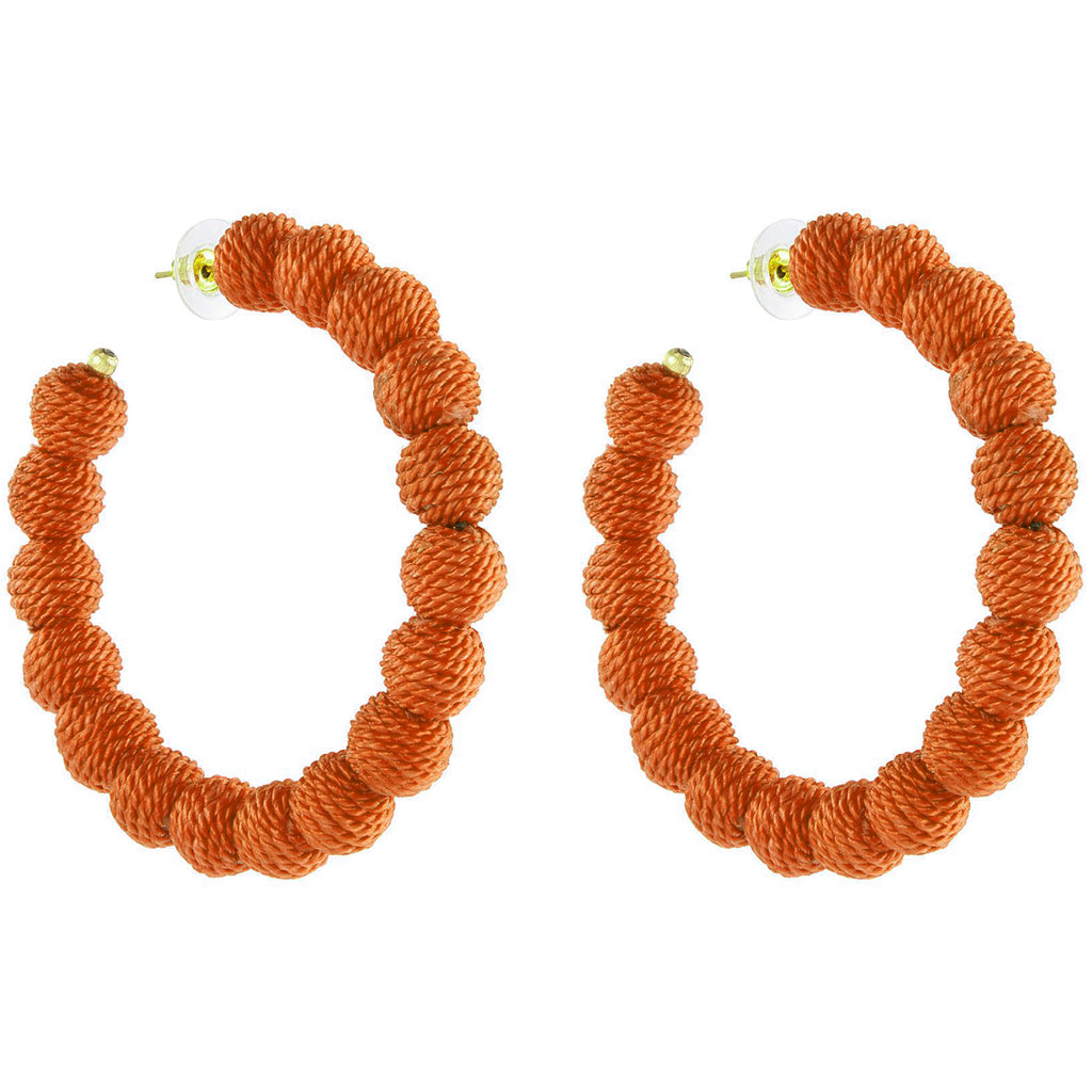 Tangerine Carnival Hoop Earrings