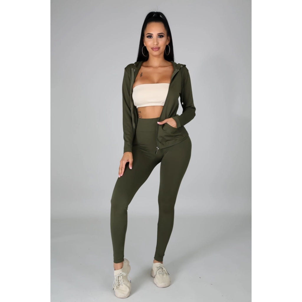 Ola Seamless 2 Piece Set Olive