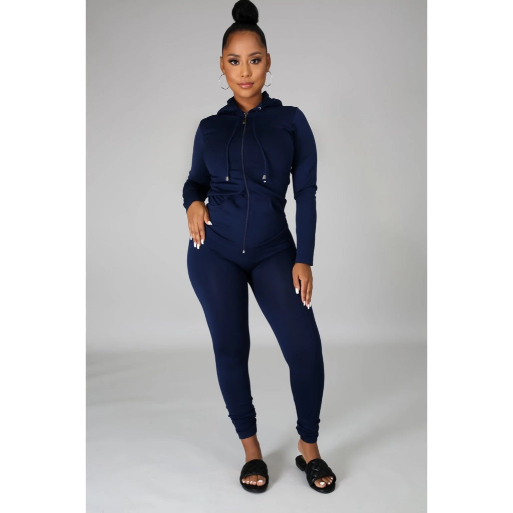 Ola Seamless 2 Piece Set Navy Blue